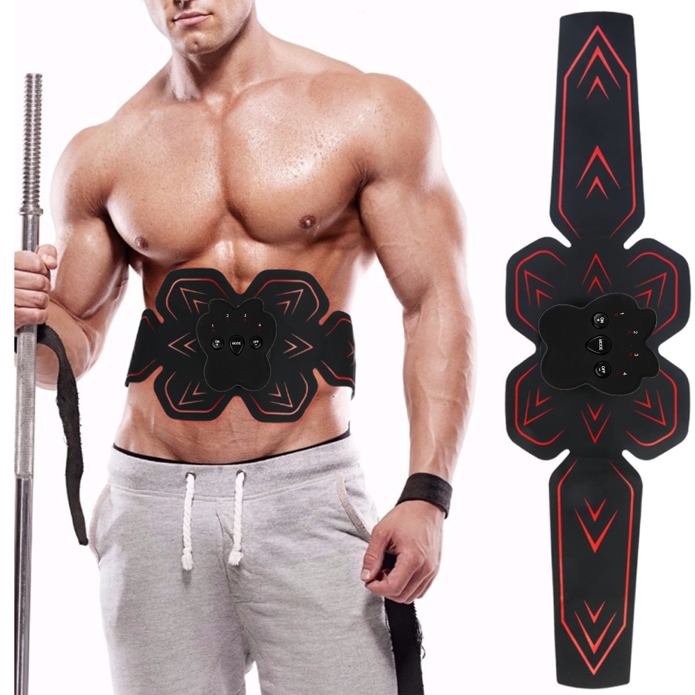 Electric EMS Abdominal Muscle Trainer ABS Stimulator Fitness Weight Loss Household Body Slimming Massage Macine Health Care