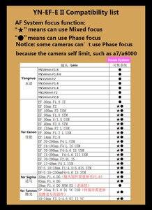 Image 5 - وصلة محول ذكية من YONGNUO YN EF E II لعدسة Canon EF EOS لكاميرا Sony NEX E Mount A9 A7 II A7RIII A7SII A6500
