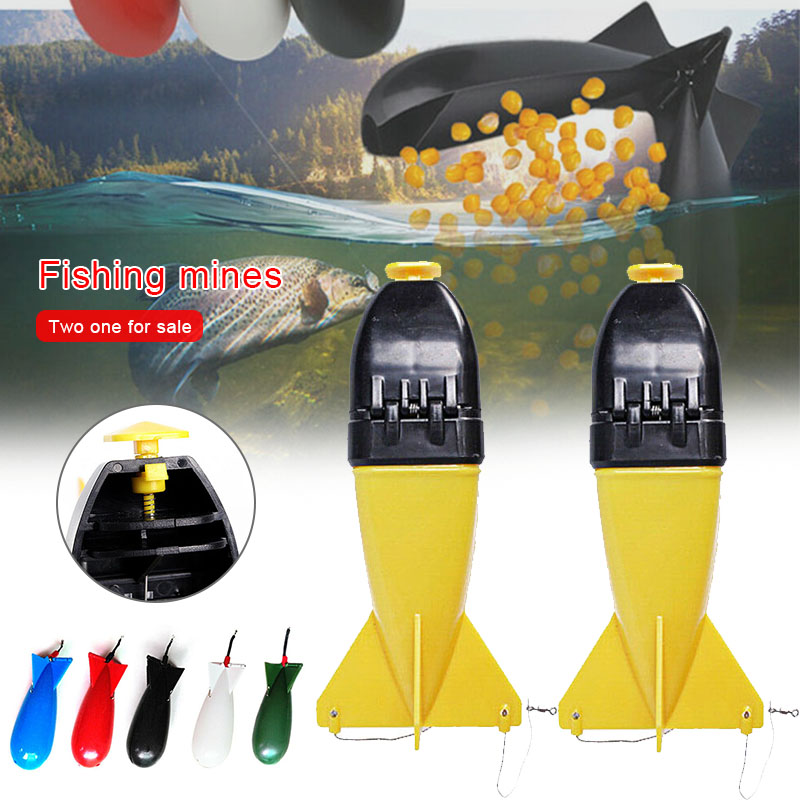 2 Pcs/lot Carp Fishing Large Rockets Spod Bomb Fishing Tackle Feeders Pellet Rocket Feeder Float Bait Holder Fishing Gear