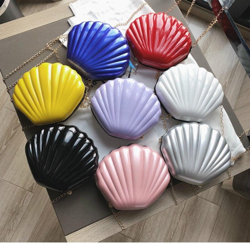 Fashion Shell Bags For 2020 Women Messenger Bag Designer Luxury Crossbody Bag PVC Leather Mini Shoulder Chain Purse Handbags