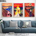 Screech Homer Simpson Scream Canvas Art Print Painting Poster Wall Pictures For Living Room Decoration Home Decor No Frame