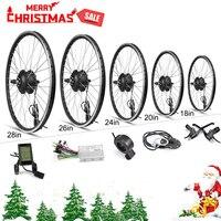 MXUS Electric Bike Conversion Kit 16 28in Motor Wheel 48V 36V Ebike Kit Rear Hub motor Wheel 350w Bike BLDC Controller with LCD
