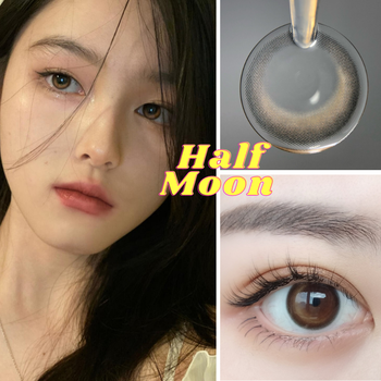 2Pcs/Pair Moon Series Colored Contact Lenses Colorful Contact Lens for Eyes Cosmetic Color Yearly UYAAI Lenses Brown 2pcs/pair eye contact lenses year use colored contact lenses for eyes colorful contact lens soft colored contact lenses uyaai