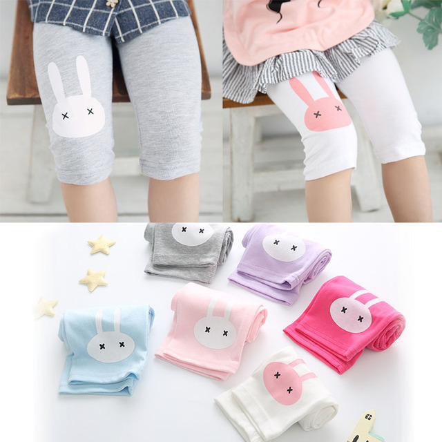 Girls Summer Knee-Length Trousers