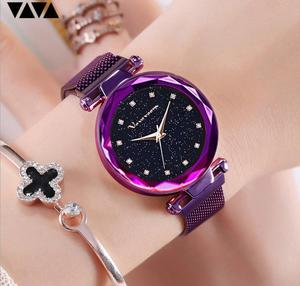 Image 3 - แฟชั่นนาฬิกาข้อมือสแตนเลสRose Goldกันน้ำสุภาพสตรีแม่เหล็กนาฬิกาควอตซ์ 2019 Relogio Femininoของขวัญ