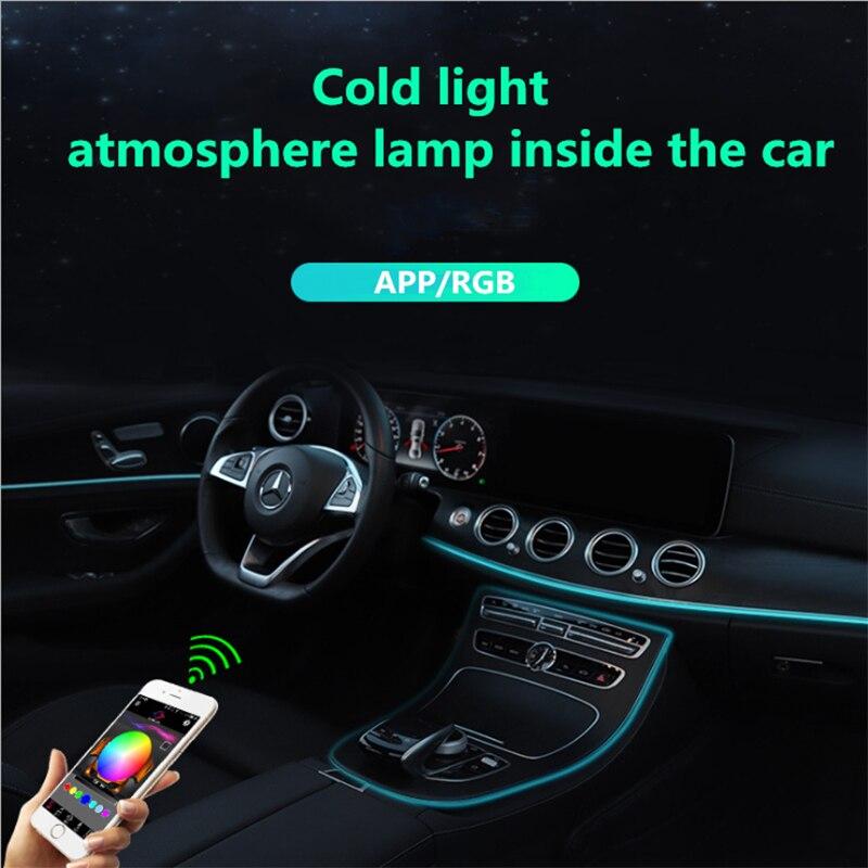 Светодиодная лента для внутренней декоративной подсветки автомобиля, 6 м