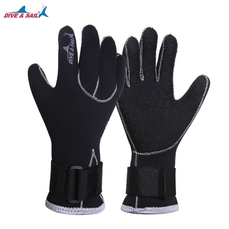 Men Women 3mm Neoprene Diving Gloves Antislip Warm Swimming Spearfishing Snorkeling Water Sports Gloves Anti-scratch Equipment