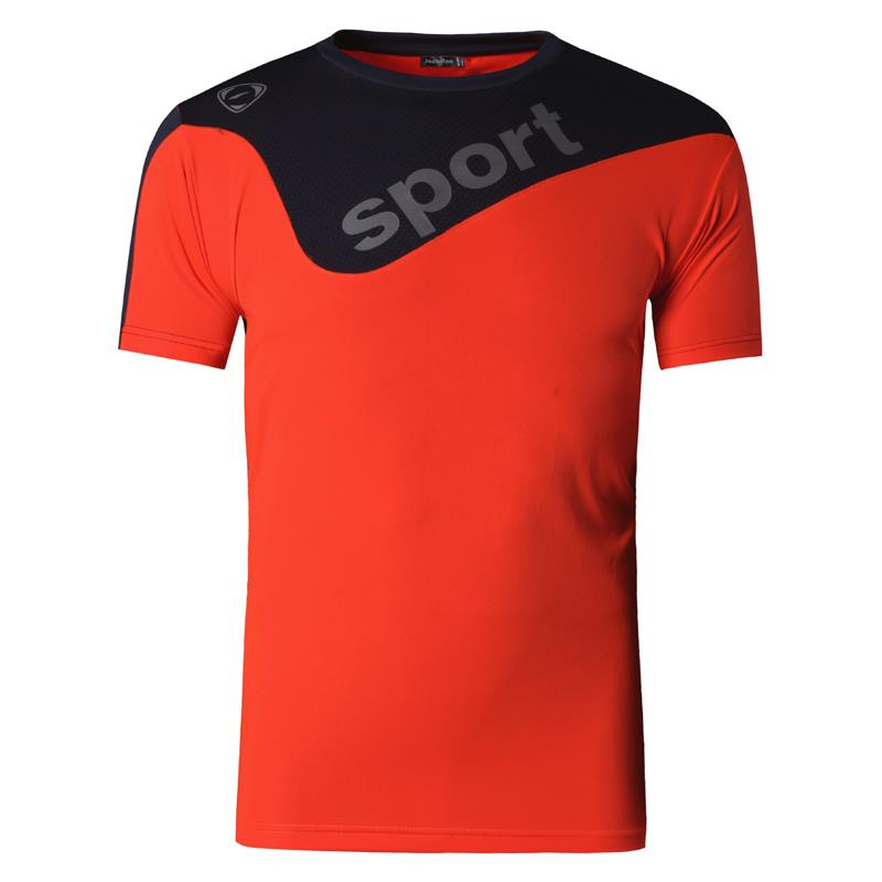 Jeansian Men 39 s Sport Tee Shirt Tshirt T shirt Running Gym Fitness Workout Football Short Sleve Dry Fit LSL188 Orange in T Shirts from Men 39 s Clothing