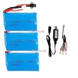 SM/JST plug wltoys 104310 104311 MN99S D90 H101 U12A S033g Huina1592  spare parts 7.4v 2200mah Li-ion battery 20c 18650/charger