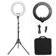 18 дюймов фотостудия светильник ing светодиодный кольцевой светильник лампа для камеры телефона лампа для фотографии с регулируемой яркостью кольцевая лампа со штативом для видео, макияжа