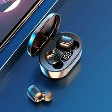 TWS słuchawki bezprzewodowe słuchawki A7S Bluetooth wodoodporny wyświetlacz led słuchawki z redukcją szumów HIFI słuchawki stereo PK A6s MIC