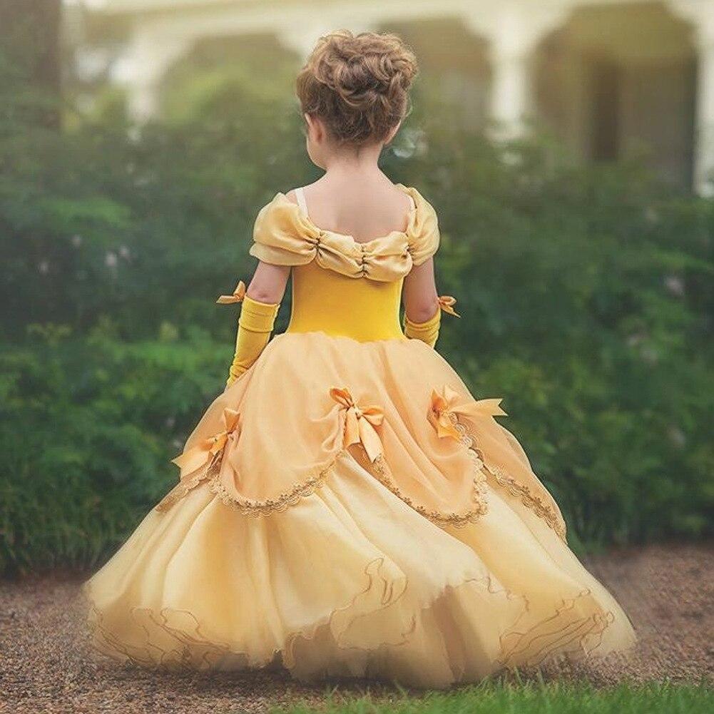 Princess Costume Little Girls Cosplay Dress Children's Disfraz Robe Kids Halloween Clothes 2
