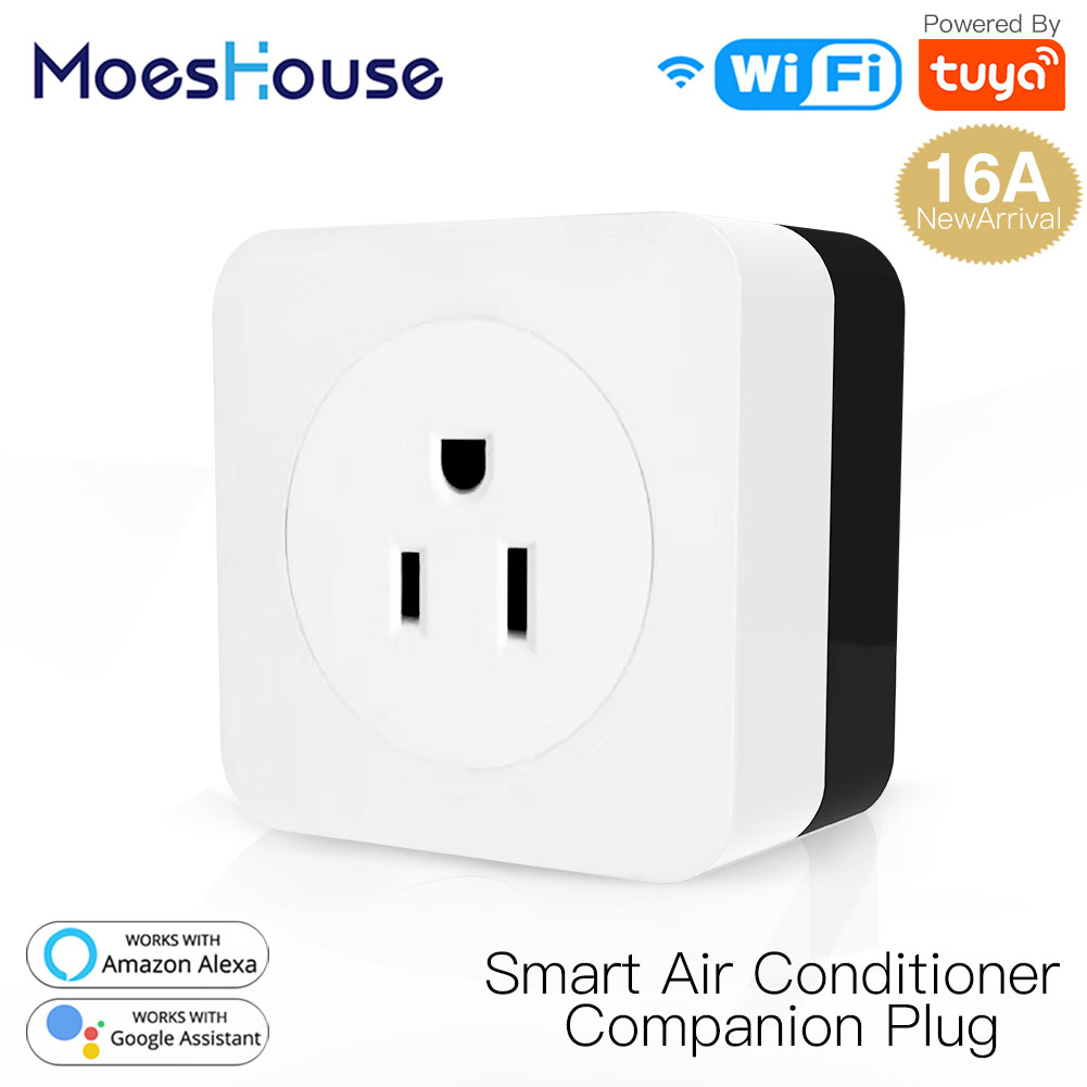US EU WiFi Smart Air Conditioner Parter IR Remote Controller 16A Wall Plug Socket Smart Life Tuya Control Work With Alexa