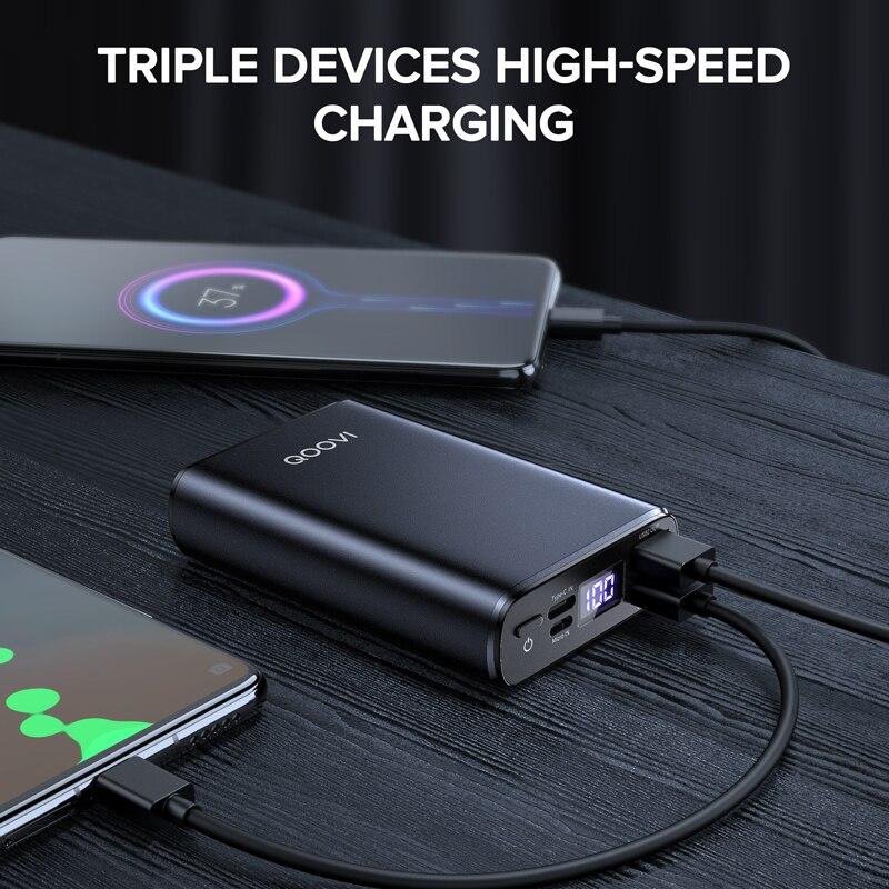 Mini Power Bank 10000Mah Usb C Draagbare Oplader Powerbank Snel Opladen Externe Batterij Voor Iphone Samsung Xiaomi Mi 10 9 4
