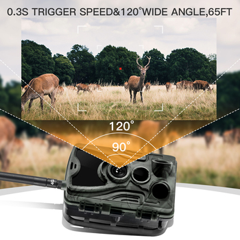 HC801A 20MP Hunting Trail Camera Wildlife Camera Night Vision Motion Activated Trail Camera Trigger Scouting Waterproof 3