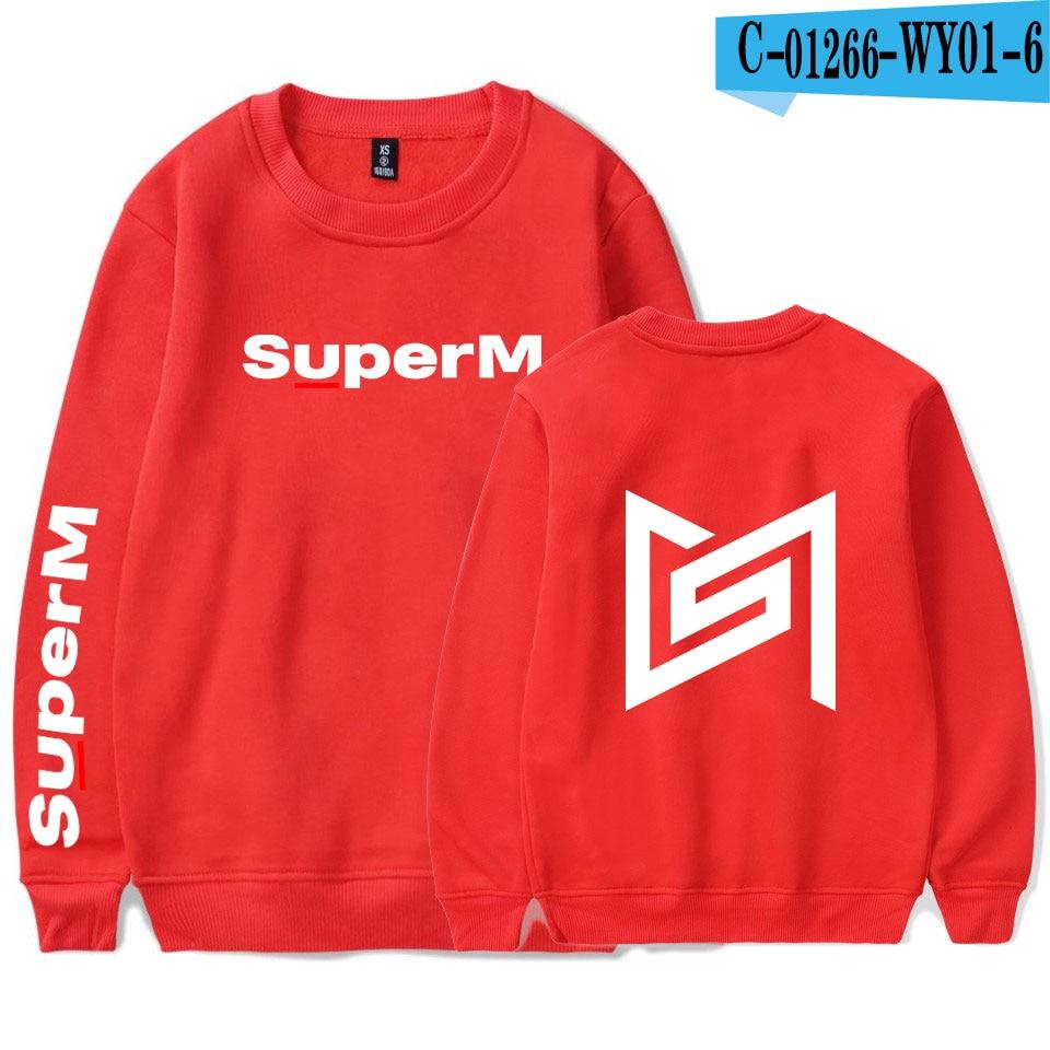 SuperM Korean Stylish Kpop Harajuku Printed  Harajuku Round Collar Sweatshirt Women/men College Stylish 2019 New Sweatshirt 22