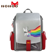 NOHOO Children Primary School Bags 3D Cartoon Unicorn School Backpack Boys Waterproof Dinosaur Backpack for Girls