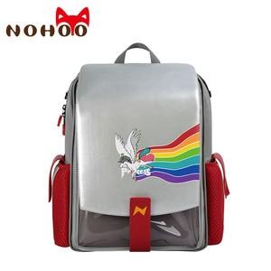 Image 1 - Nohoo crianças sacos de escola primária 3d dos desenhos animados unicórnio mochila escolar meninos dinossauro à prova dwaterproof água mochila para meninas