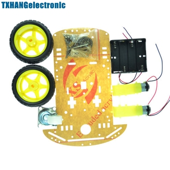 new avoidance tracking motor smart robot car chassis kit speed encoder battery box 2wd ultrasonic module 2WD Smart Robot Car Chassis Kit/Speed encoder Battery Box 2 motor 1:48 DIY electronics
