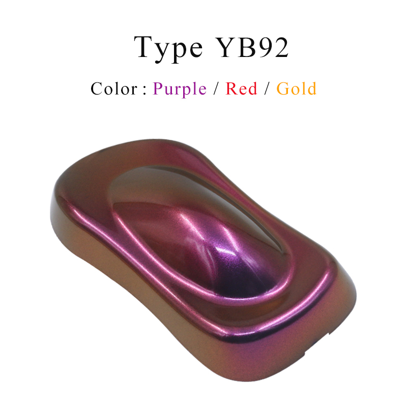 YB92 Chameleon Pigments Acrylic Paint Powder Coating Dye For Car Painting Decoration Arts Crafts Nail 10g Painting Supplies