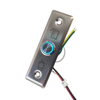 Opcja oświetlenia Led 12V ze stali nierdzewnej przycisk zwalniający wyjście NO NC COM przycisk wyjścia dostępu do drzwi tanie i dobre opinie gzpzdp 92x28 Exit Button stainless steel 3A 36VDC Maz 92x28x23mm NO COM 92x28x27mm NO NC COM