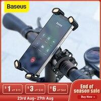 Baseus-Soporte de teléfono para bicicleta, Clip para manillar de bicicleta, GPS, para motocicleta, iPhone, Samsung