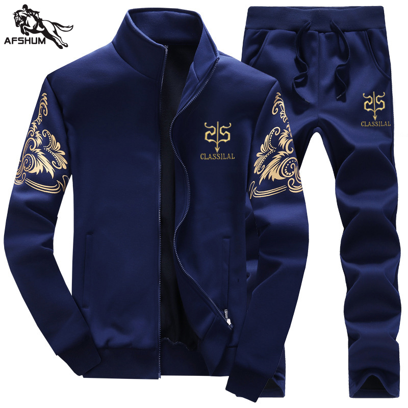 Sportwear Men's Joggers Sweatshirt Tracksuit Hoodie Men Casual Active Suit Outwear Jacket+Pants Sets Bodybuilding Clothing