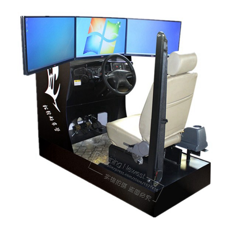 Vehicle Auto Driving School Training Equipment Standard Car Driving Simulator Machine With Factory Price And 3 Screens