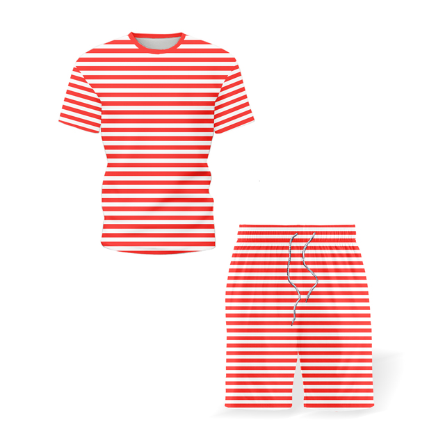 2021 Summer Men's Sportswear New Trousers T-shirt Sportswear Two-piece Summer Men's Sportswear Brand Men's Wear Size 5XL 2