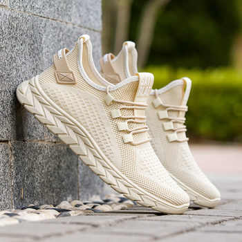 Mens Shoes 2020 New Summer Breathable Casual Wild Sports Fashion Retro Mesh Running Flying Woven Single