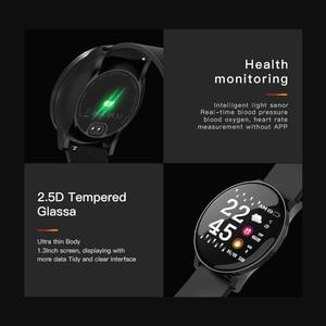 Image 5 - Reloj inteligente W8 para Android, reloj inteligente deportivo resistente al agua, con control del ritmo cardíaco y de la presión sanguínea de hombre y mujer