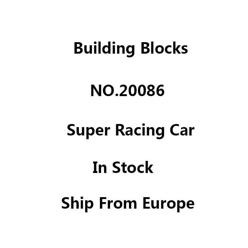 Lepinblocks Technic samochód 20086 Super wyścigi samochodowe klocki zestaw Bugatti Chiron 42083 42056 zabawki dla dzieci prezent król cegły