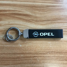 цена Auto Leather Keychain Alloy key ring Exquisite printing for Opel astra h j g corsa d insignia vectra Car accessories онлайн в 2017 году