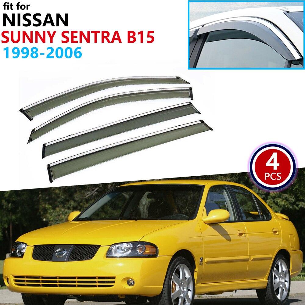 Window Visor Vent Visor Guard Deflector For Nissan Maxima 2004-2008