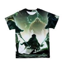 Camiseta masculina nova de verão 3d, respirável, ataques de anime titã, manga curta confortável e interessante 110-6xl (customizável)