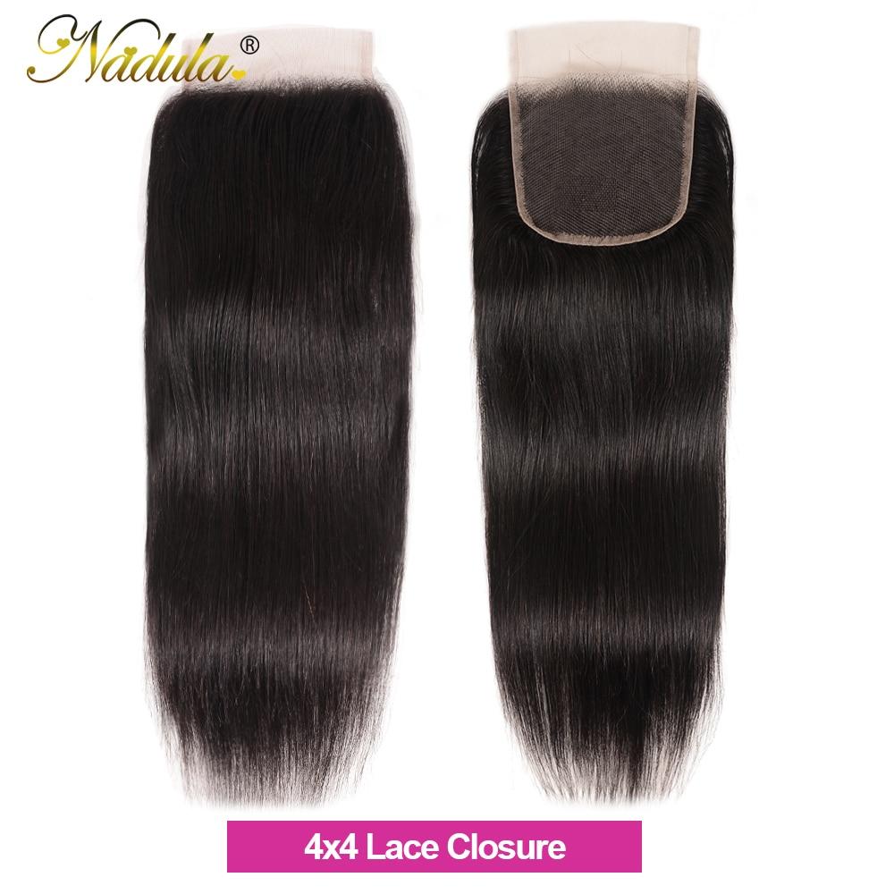 Nadula Hair 5x5 HD lace Closure 10-20inch  Hair Natural Straight Hair Closure  Hair 4*4 Swiss Lace Closure 5