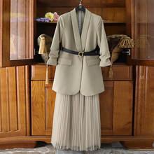 Женский костюм большого размера 4xl Блейзер платье с длинным