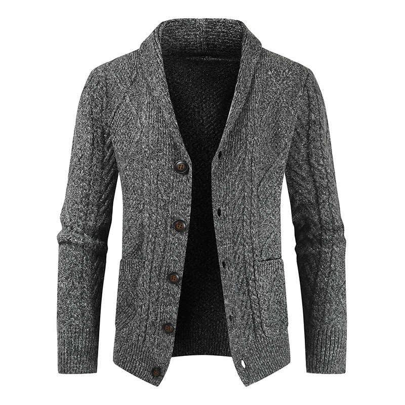 스웨터 패션 봄 카디 건 2020 남성 의류 긴 소매 셔츠 옴므 스마트 캐주얼 남성 스웨터 슬림 피트 솔리드 MOOWNUC