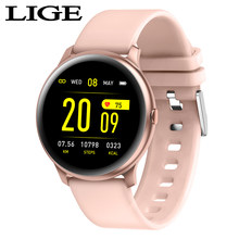 LIGE New Fashion Sports Smart Watch Men Women IP67 Fitness Tracker Man Heart Rate Monitor Blood Pressure Function smartwatch+Box(China)