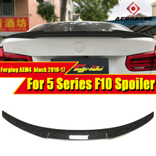 F10 tail Rear Spoiler Wing AEM4 Style Forging Carbon Fiber For  5 series 520i 525i 530i 535d 535i 550i 2010-17
