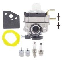 753-06220a carburador para troy bilt construído tb539es tb590ec aparador de cordas com ac04122 kit de vela de ignição da gaxeta de linha de combustível