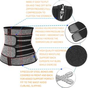 Image 5 - 허리 트레이너 여성 슬리밍 Sheath Tummy Reducing Shapewear 배꼽 Shapers 땀 바디 셰이퍼 사우나 코르셋 운동 트리머 벨트