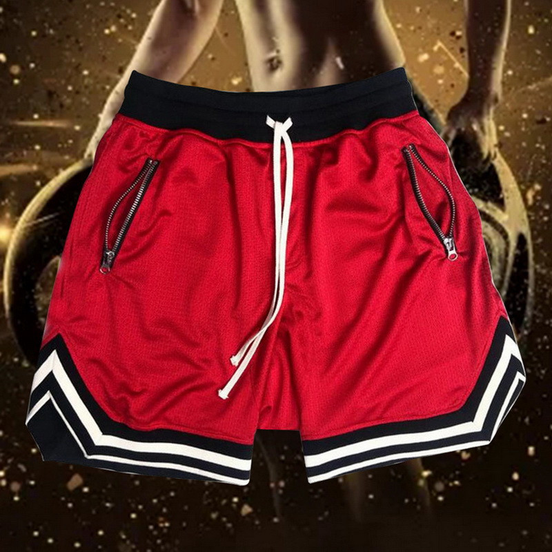 New Basketball Sports Five Shorts Black Red Yellow Anti-pilling Breathable Quick-drying Loose Fitness Basketball Five Shorts