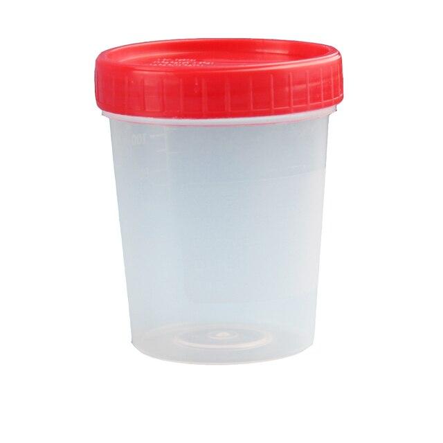 50 Pcs 40ml 60ml Sterile ถ้วยปัสสาวะคอนเทนเนอร์สกรู Cap