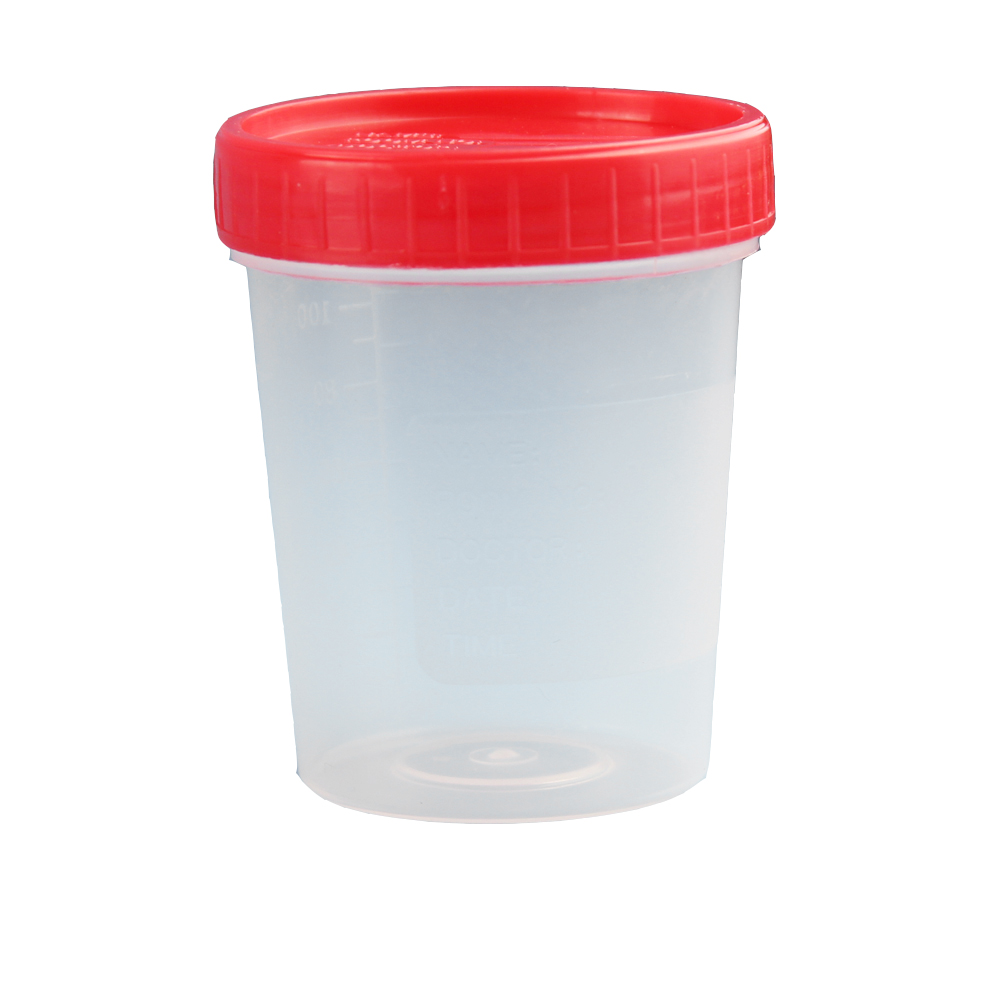 50 Pcs 40ml 60ml Sterile Urine Cup Container With Screw Cap