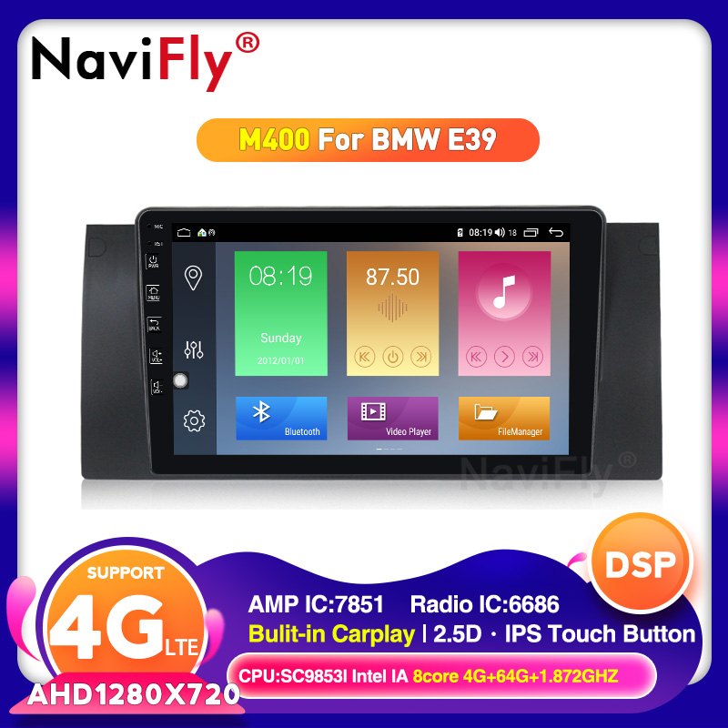 Android 10.0 Octa Core DSP IPS Car Multimedia for BMW <font><b>E53</b></font> E39 <font><b>X5</b></font> Autoradio 4G RAM 64G ROM with RDS Radio GPS BT 4G wifi image