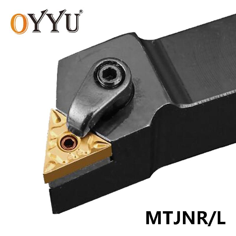 OYYU MTJNR MTJNL MTJNR1616H16 MTJNR2020K16 MTJNR2020K22 MTJNR2525M16 Turning Tool Holder Boring Bar Lathe Arbor Carbide Inserts