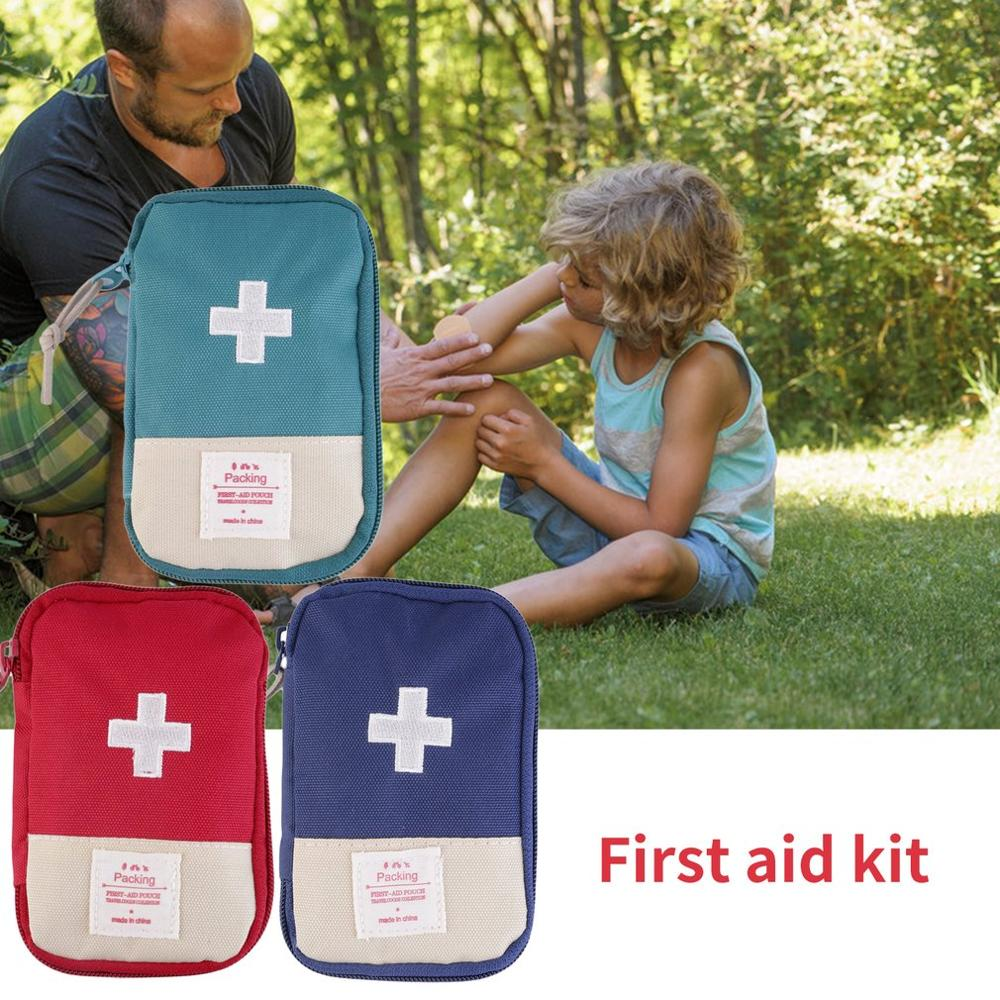 Durable Outdoor Camping Home Survival Portable Striking Cross Symbol First Aid Kit Bag Case Easy-Carrying Convenient Handle