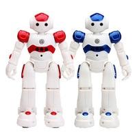 CHILDREN'S Toy Al Locke Robot Intelligent Robot Music Light Optical Super Variable Gold Steel Remote Control Robot