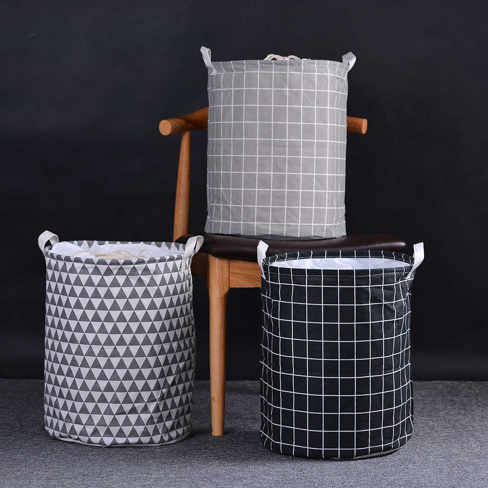 Urijk סל כביסה גדול סל מתקפל תיק עבור מלוכלך בגדים ארגונית הדפסת צעצוע מתנה ארגונית שק כביסה סלסלות פיקניק